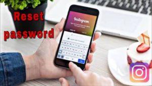 Reset the Instagram password using Facebook