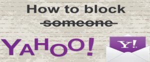 block someone on Yahoo mail app on iPhone