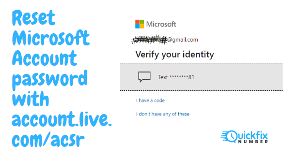 Microsoft Password Reset with Account.live.com/acsr