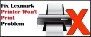 lexmark_Printer_not_printing